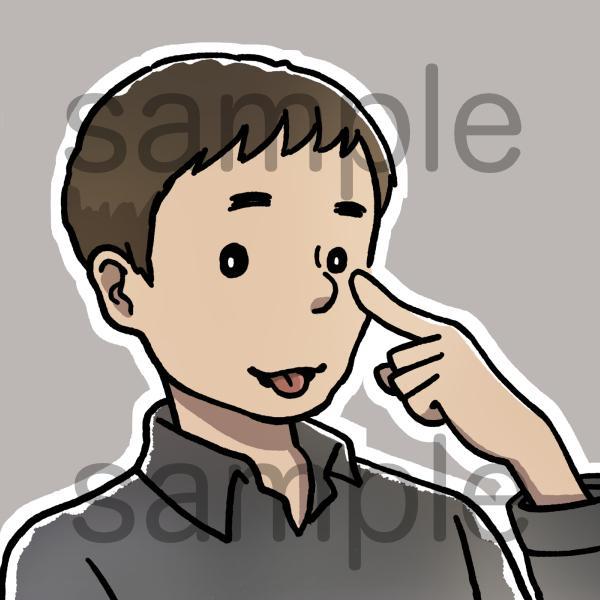 シンプルなオリジナルアイコンイラストお描きします SNSで使えるかわいいイラスト。名刺のワンポイントにも!