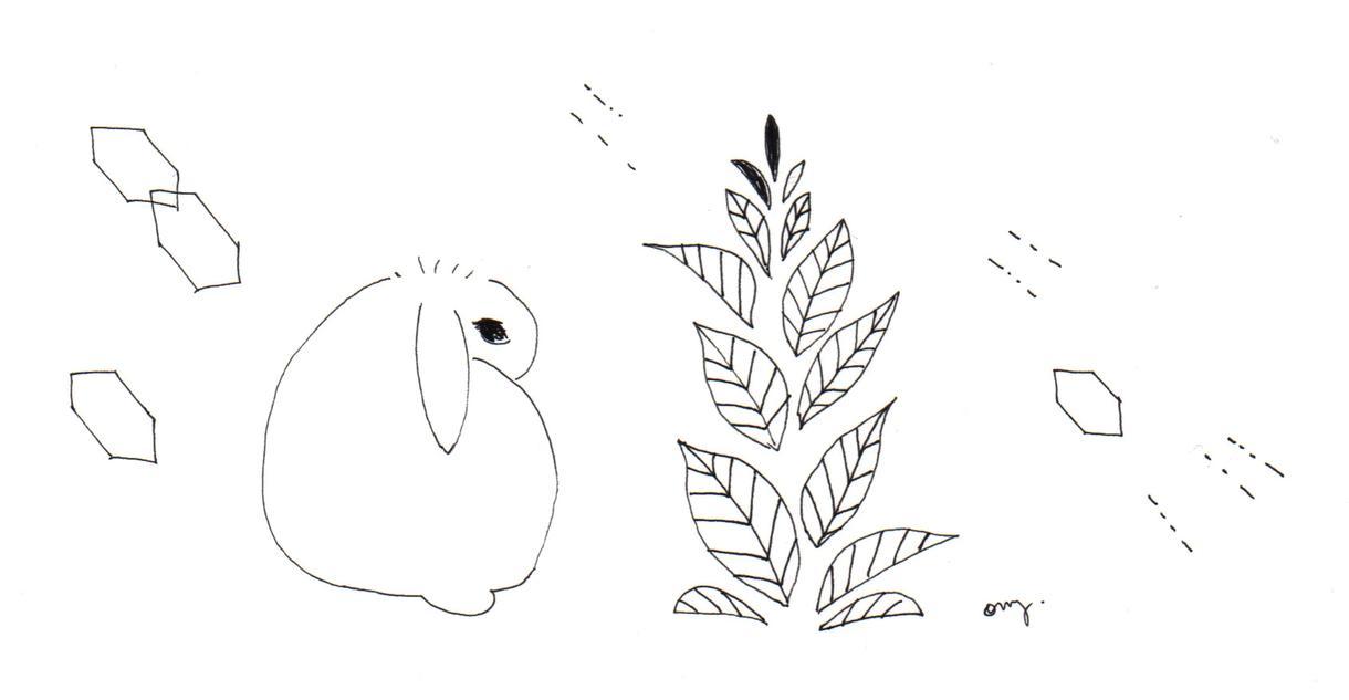 シンプルでかわいい線画を描きます 線画は、ご覧になる方に、静かにシンプルに「心」をお伝えします