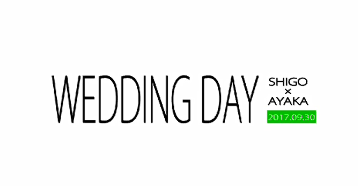 オープニング映像を作成します 結婚式・2次会・1.5次会を盛り上げます