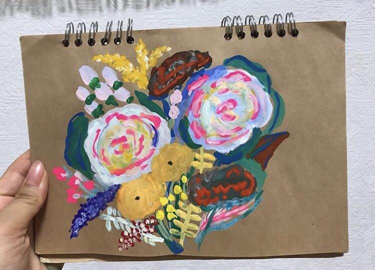 お花の絵描きます 結婚式・お誕生日・プレゼント、お花の絵描きます!