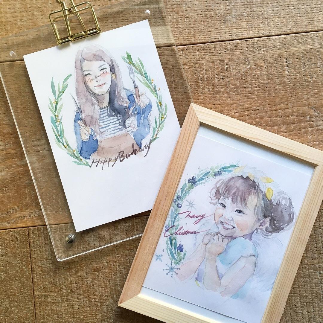 似顔絵アイコン描きます SNSにもお誕生日にも!手描き水彩で柔らな雰囲気に仕上げます
