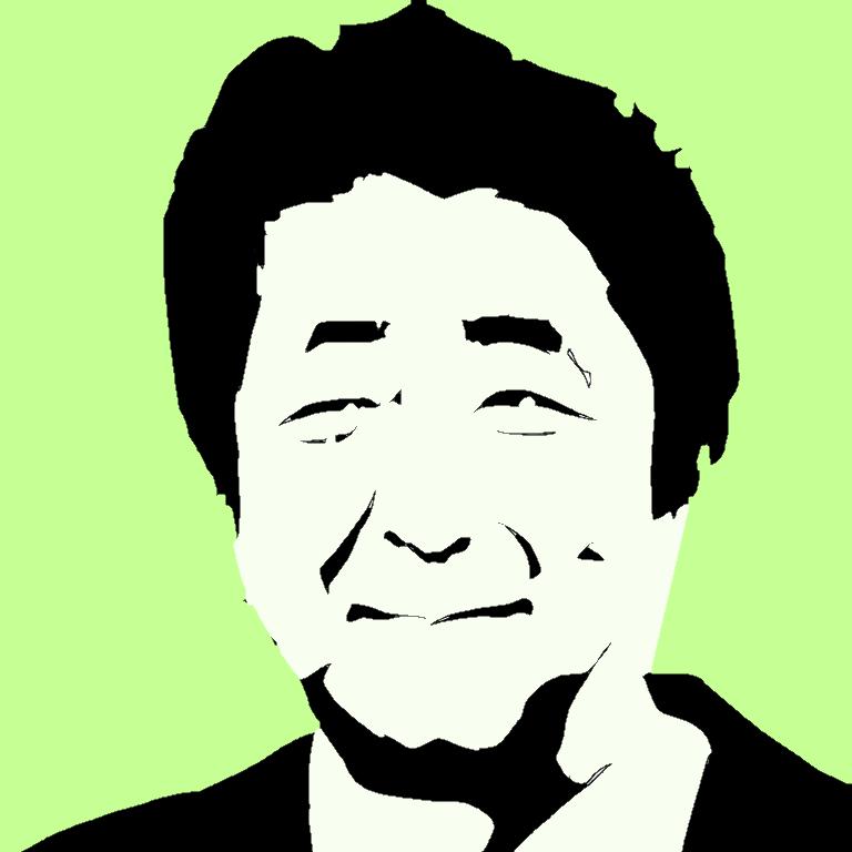 シックでシンプルな影絵のような似顔絵を描きます 顔画像を元に2色であなたの個性を全面にアピール