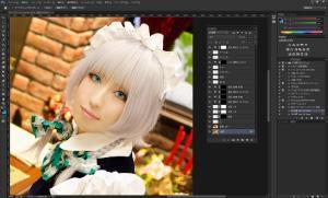 コスプレ写真・ポートレート写真の顔の美肌加工します アニメ・CGのようなツル肌に、瞳加工サービス