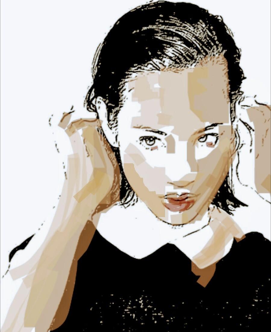 オプションでカラーを自由に選べる似顔絵を描きます 似顔絵をアイコンやホーム画にしたい方などにオススメ!!