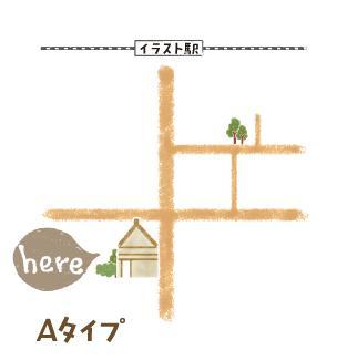 可愛くておしゃれな地図作成いたします♪