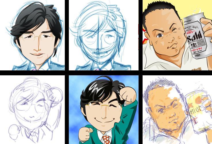 ☆似顔絵描きます☆Twitter、Facebook ・・・etc//にお使い下さい!