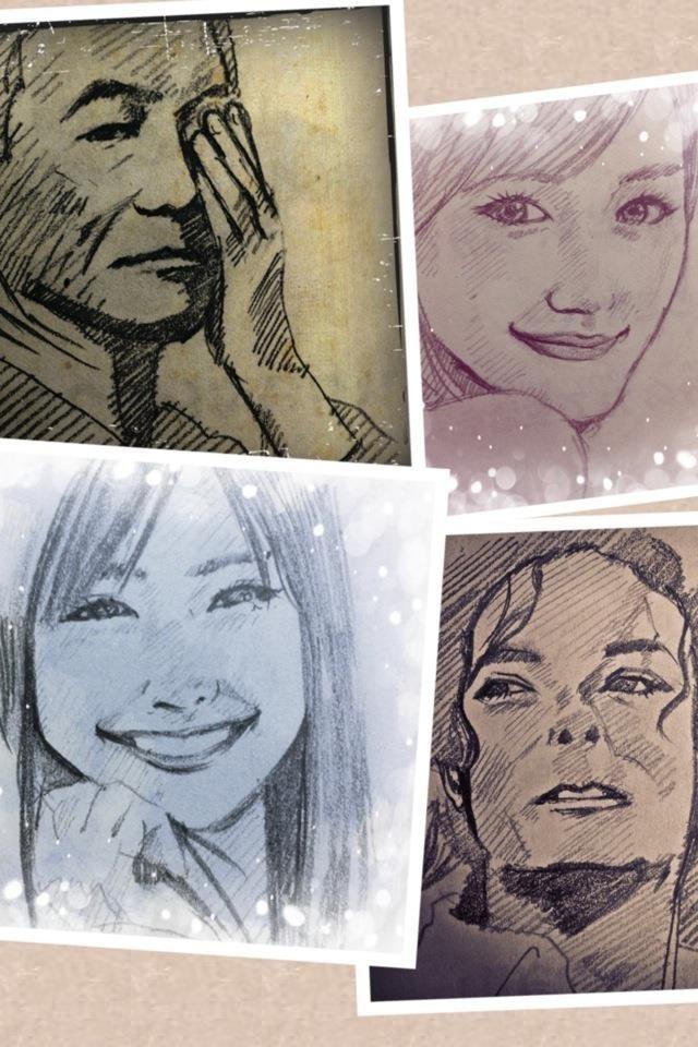 似顔絵描きます。