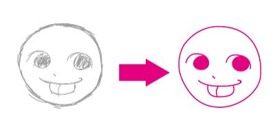 手書きのイメージをきれいに清書します Illustratorで画像をトレースしてベクター画像に!!