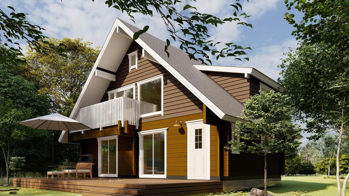 一般住宅の外観3Dパースを制作します プレゼン、広告、プラン検討など用途に応じ柔軟に対応 イメージ1