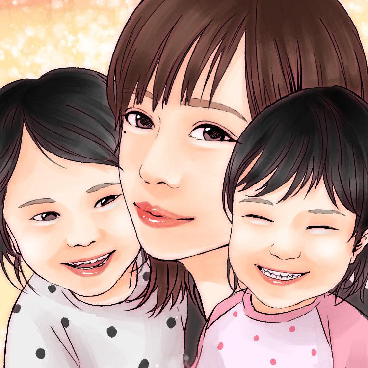 描かれた人に幸福が訪れる似顔絵を描きます 24h以内に納品●幸福プレゼント付き