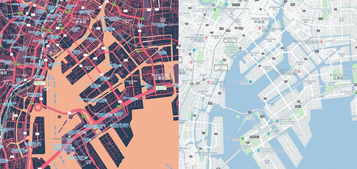 地図画像データを製作しますます 広告・チラシ用の地図画像データを制作します