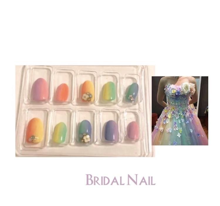 ブライダル向けのネイルチップ制作致します ドレスに合わせたデザイン提案します