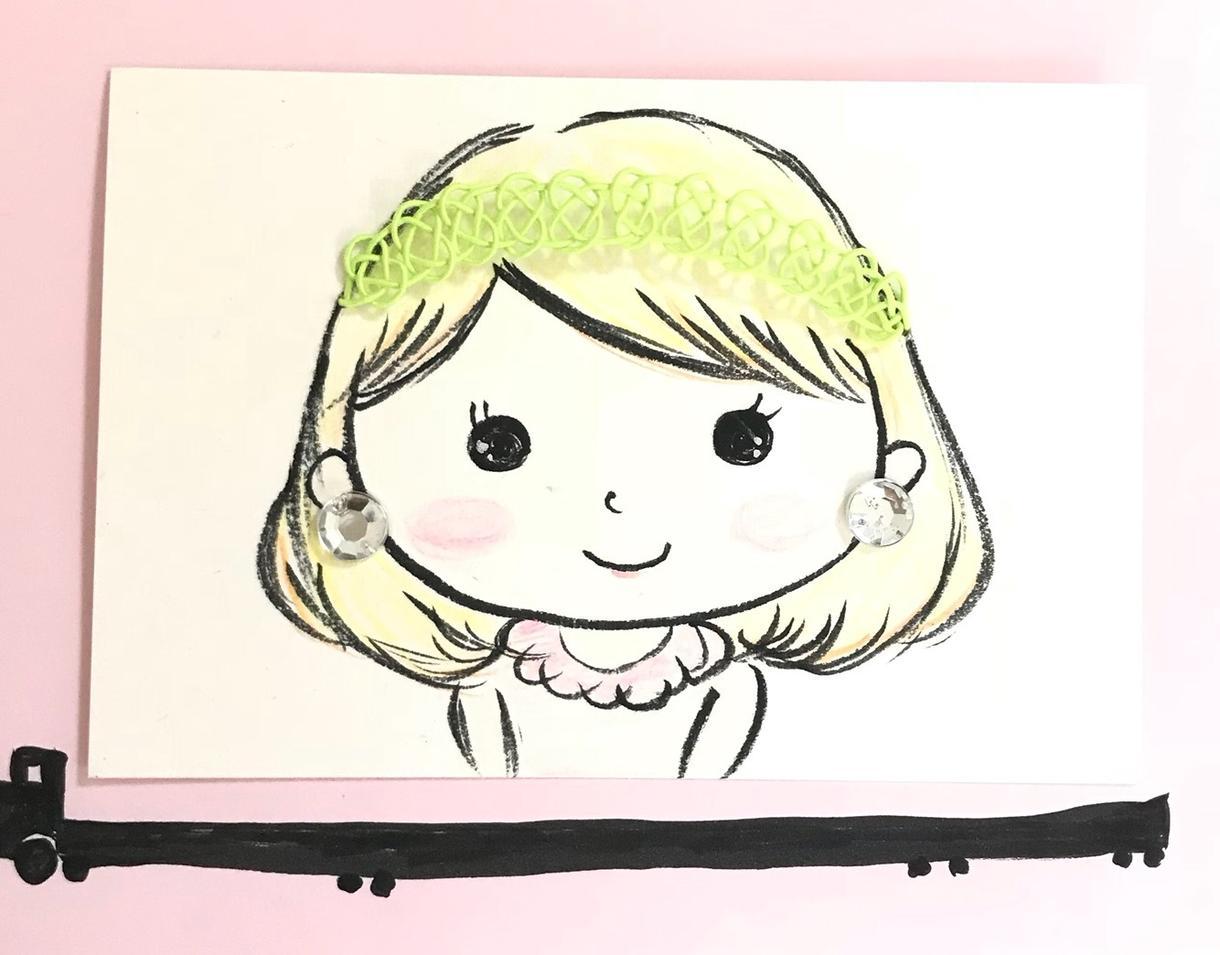 ほんわか、かわいい似顔絵描きます プレゼントや自身のSNSのアイコンに使えます!