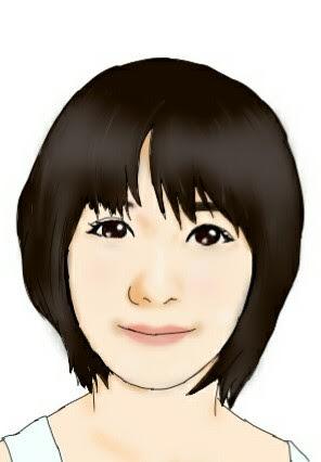 お写真をもとに、似顔絵を描かせていただきます(^_^)/