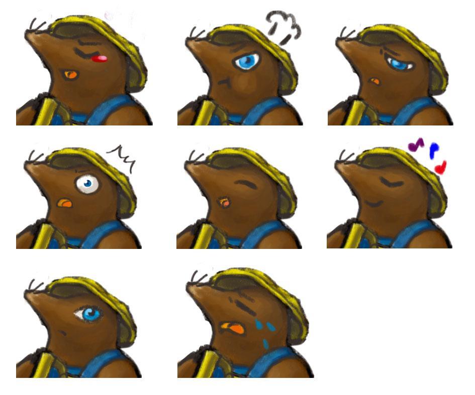 定期更新型ゲーム、TRPGキャラアイコン作ります オリジナルキャラクターのアイコンを作成いたします。