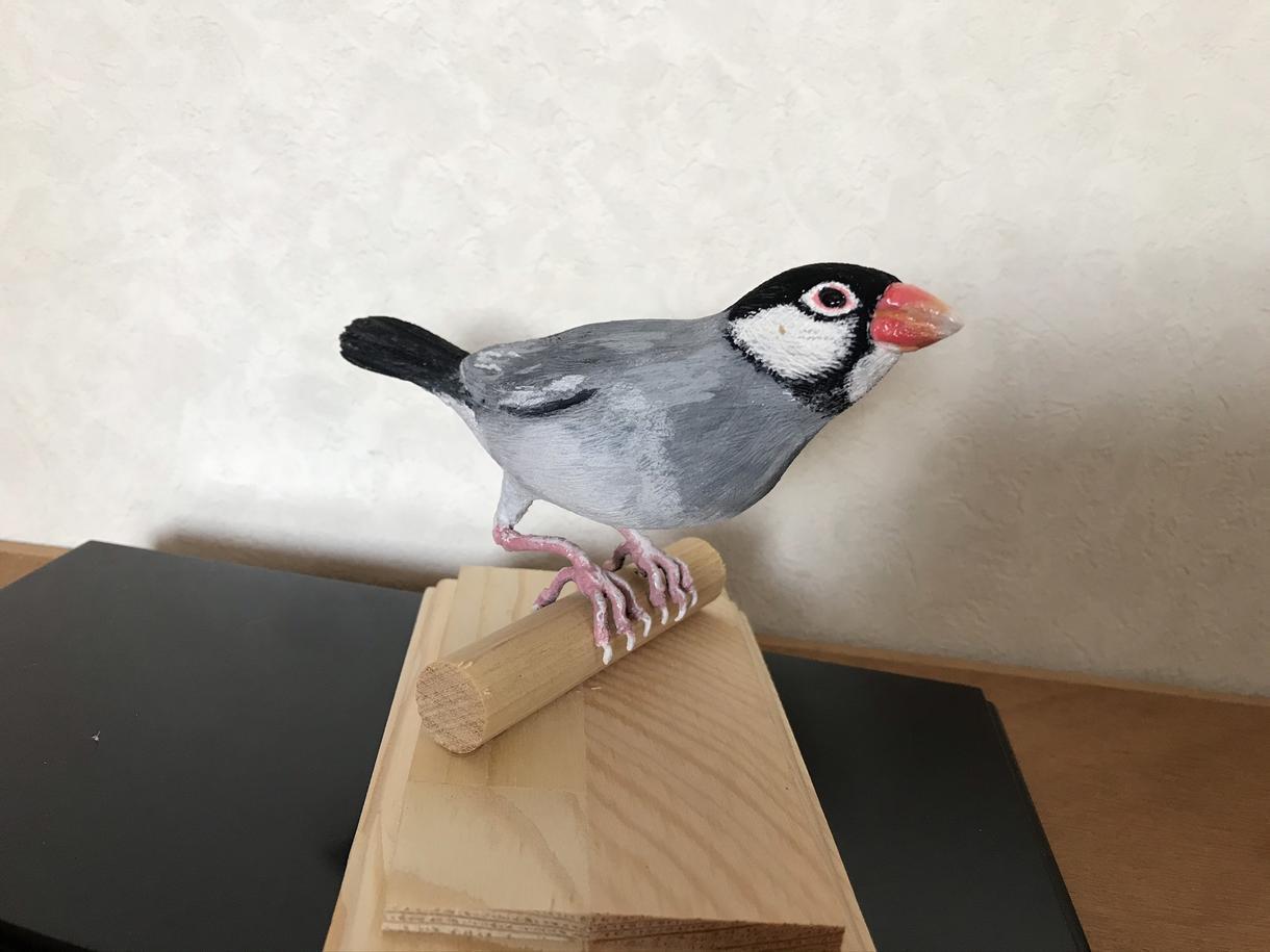 バードカービング します 小鳥やお気に入りの野鳥を木で彫ります イメージ1