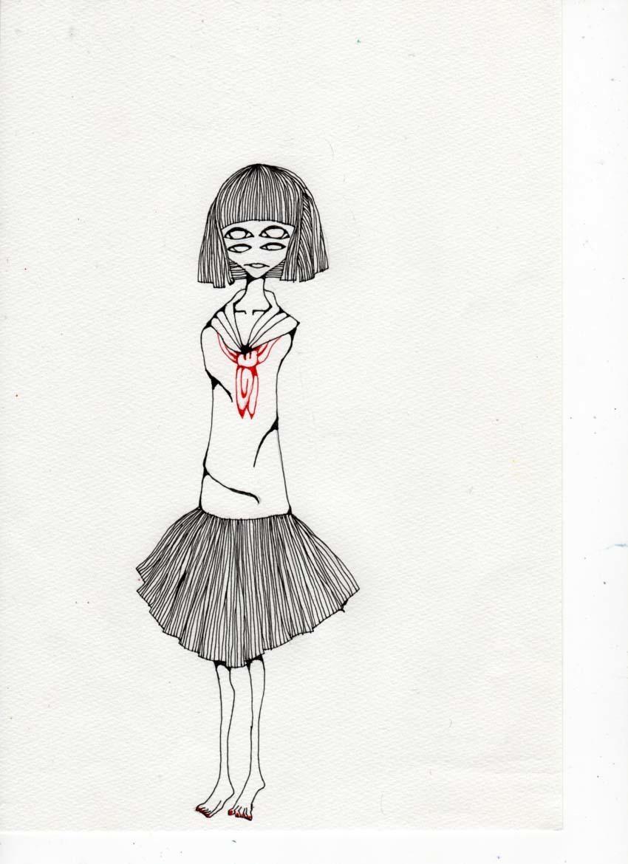 少女のイラストオーダー承ります ☆郵送・商用・二次利用可☆*°