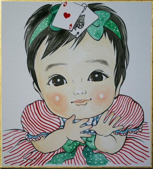 大切な人への贈り物に。美男美女になる似顔絵描きます 記念品やプレゼント選びに。喜ばれる似顔絵色紙はいかがですか?