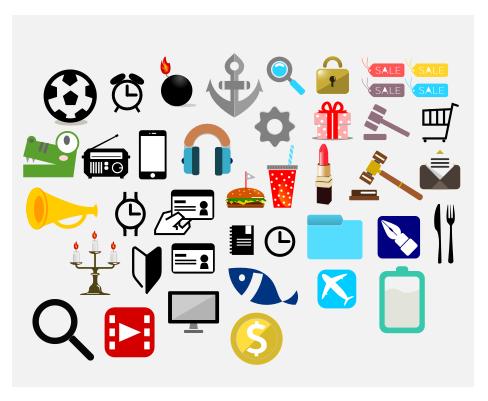 ブログHPなどワンポイントイラストアイコン描きます ブログやHPのパーツ素材を手書き風イラストで描きます