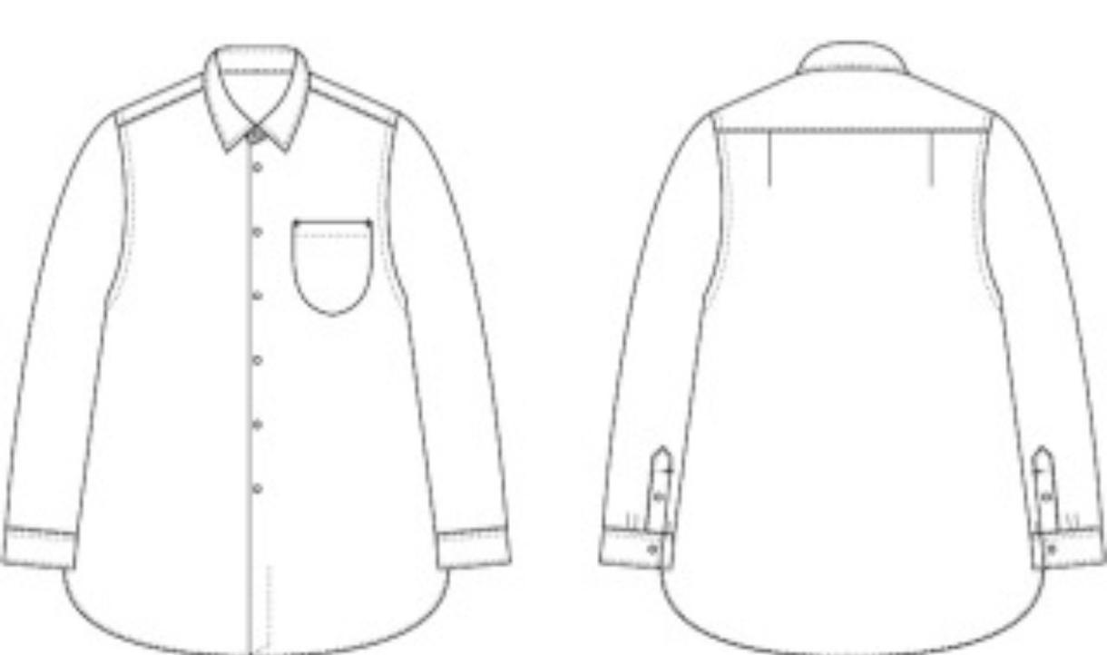 デザイン画で使う服のハンガーイラスト書きます 仕様書などに使えるイラストをイラレーターで作成します