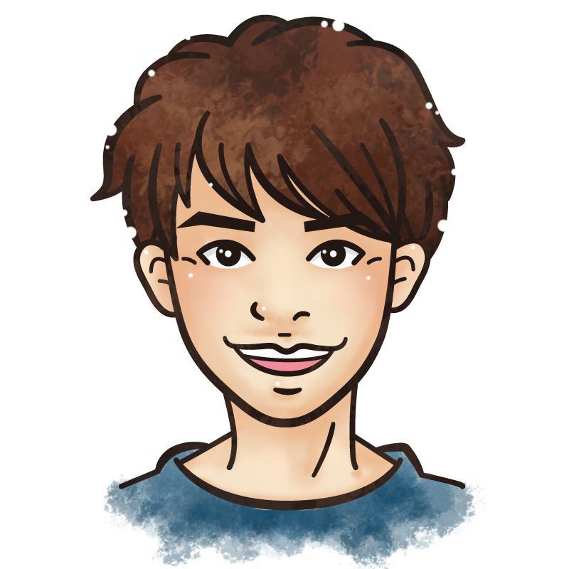 アイコンにぴったり!かわいい似顔絵イラスト描きます SNSアイコンや名刺に使える!似顔絵イラストいかがですか?
