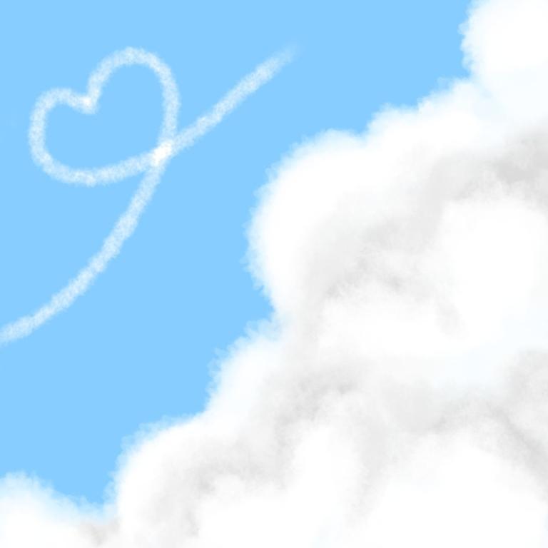 雲、空のSNSアイコンなどを描きます 空のイラストアイコンをお探しのかた、特に雲が好きなかたへ!