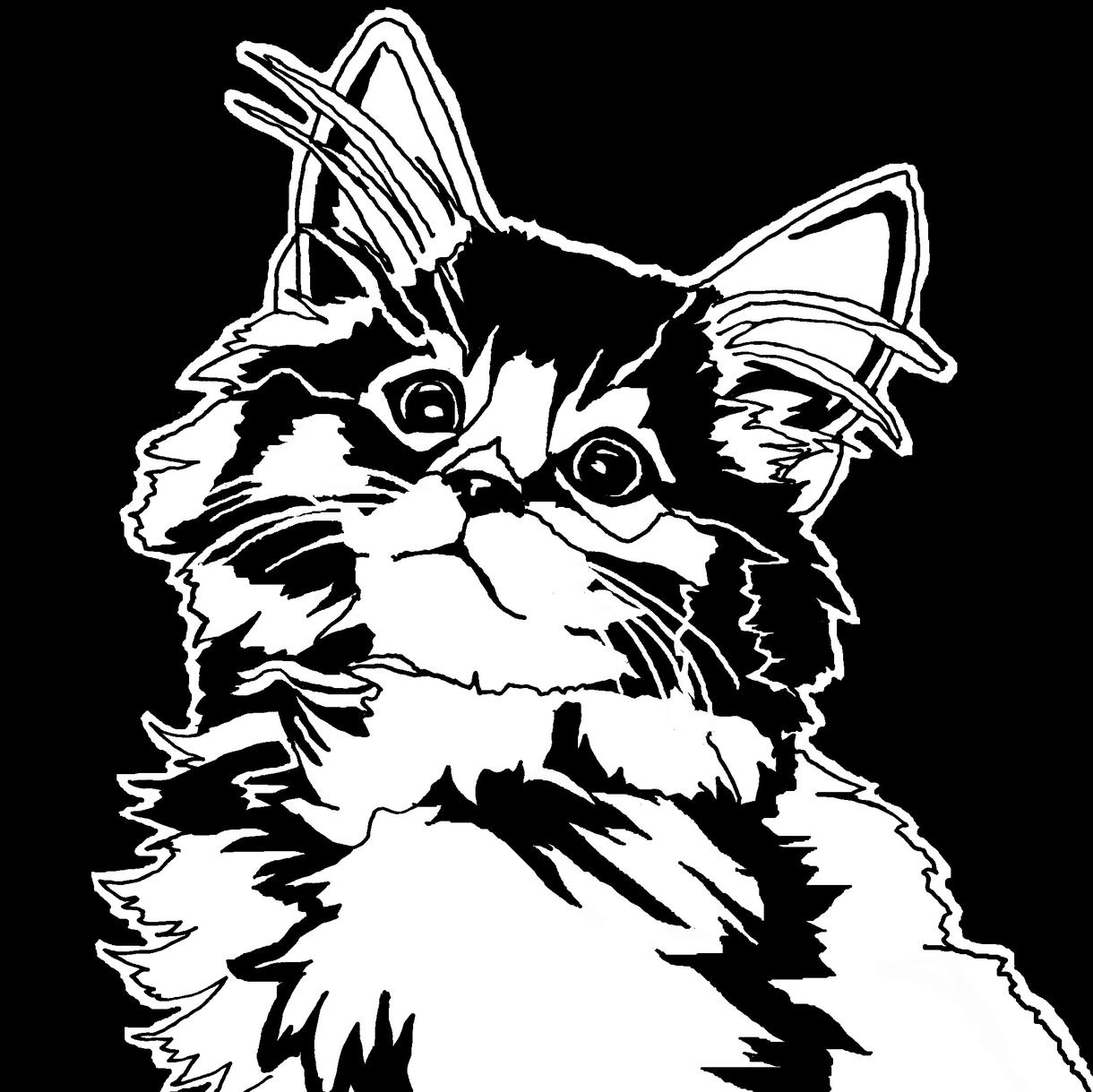 ペットのモノクロスタイリッシュな似顔絵描きます 用途は多数!スタイリッシュな似顔絵をデータにしてお送りします