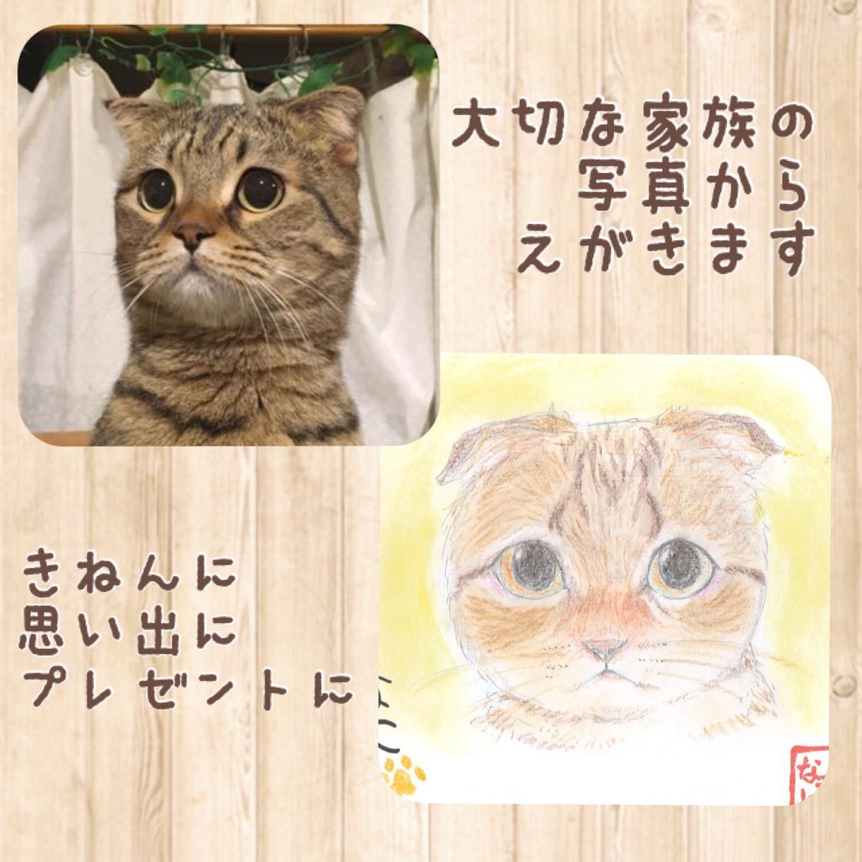 ペットの似顔絵描きます 大切な家族との記念日に、思い出作りに、プレゼントに!