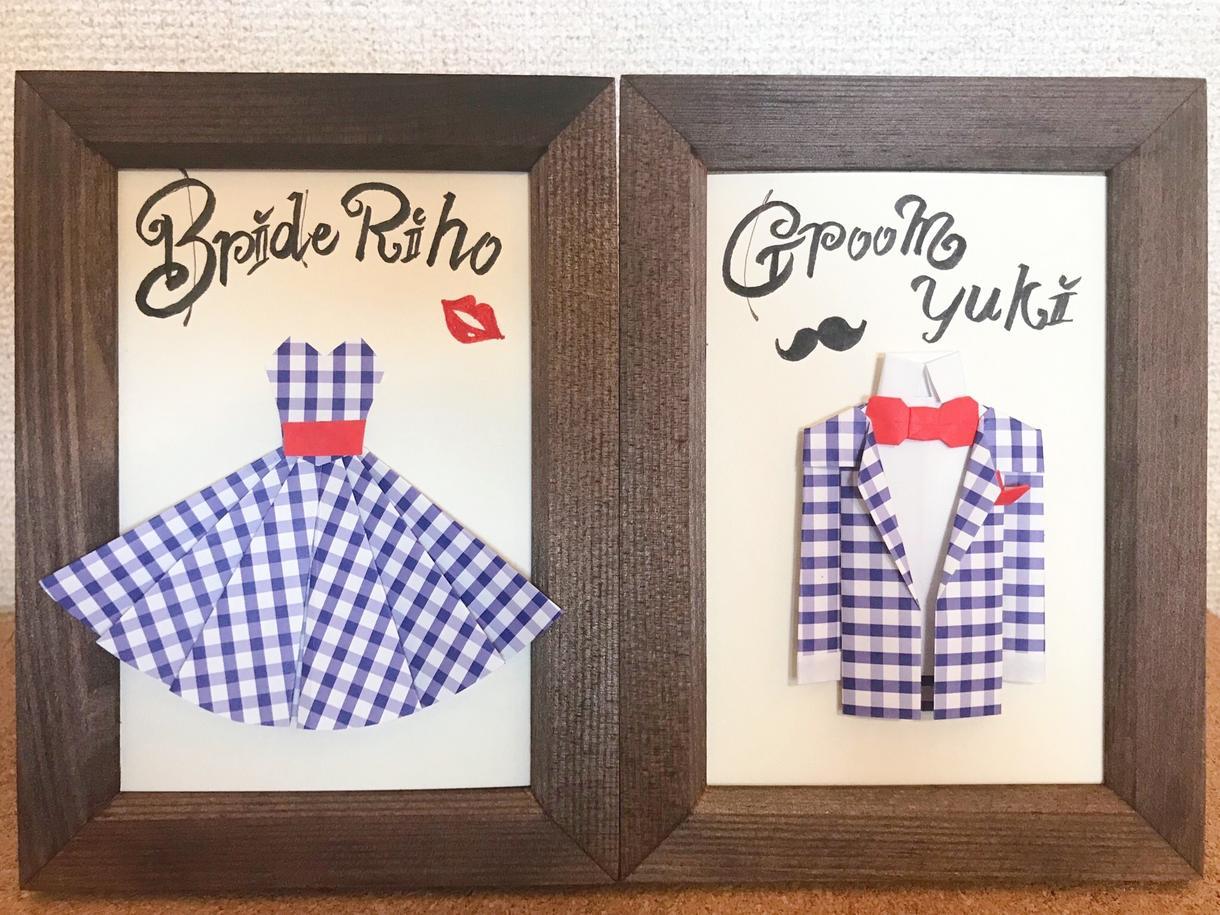 ドレス席札♡特別なテーブルコーディネートにします ウェルカムスペースに飾る受付サイン・ドレス色当てクイズも販売
