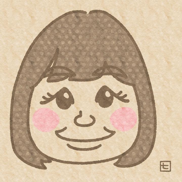 クラフト紙風似顔絵描きます 【ゆる似顔絵】クラフト紙に描いた風イラスト