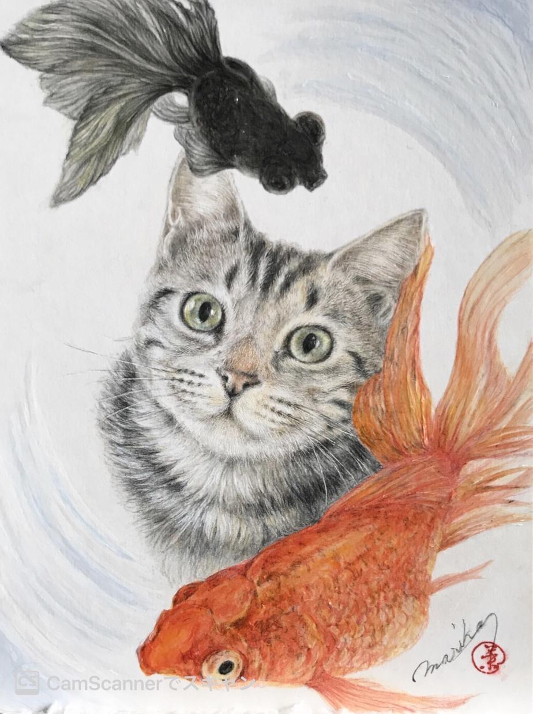大切なペットをリアルで優しい絵画にいたします 動物を愛する作者が毛の一本一本まで愛情たっぷりに仕上げます。 イメージ1