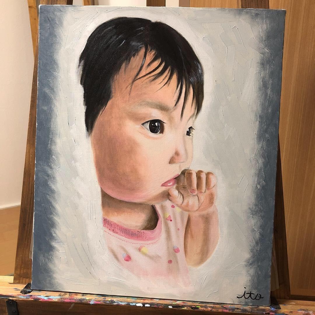 油絵の具であなたの似顔絵描きます 世界に1枚だけの油絵作品をあなたに!