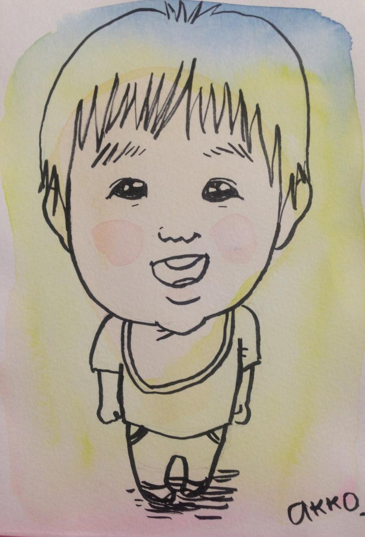 ほんわかシャボン玉カラーの似顔絵描きます