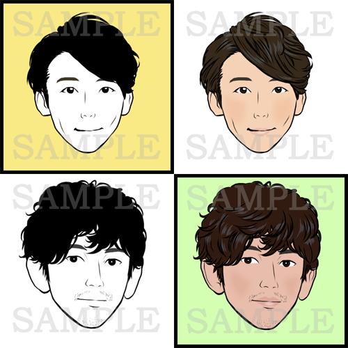 お写真をもとにシンプルな似顔絵作成いたします SNSアイコンやプレゼント等に