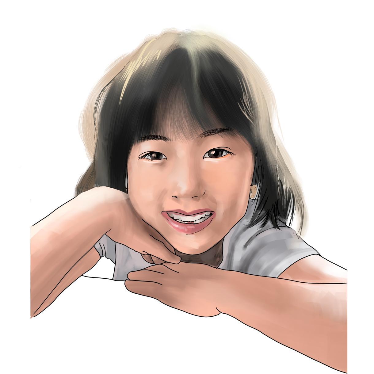 最短納期3日★商用OK★リアルな似顔絵描きます お気に入りの写真を絵画にしてより印象的残る1枚に仕上げます。