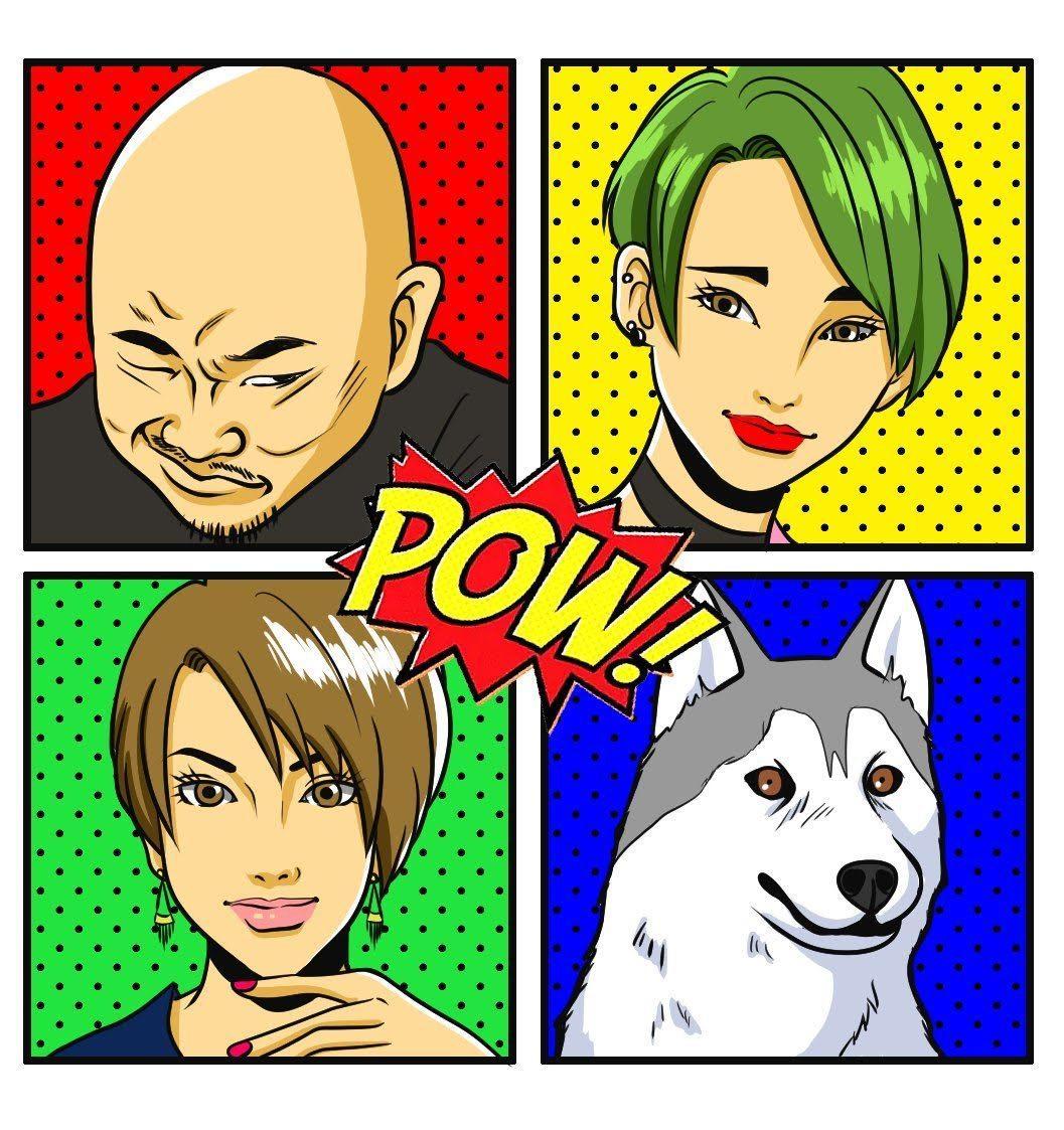 〇〇風似顔絵描きます お好みのアニメや漫画のタッチで似顔絵作成[Bコース]