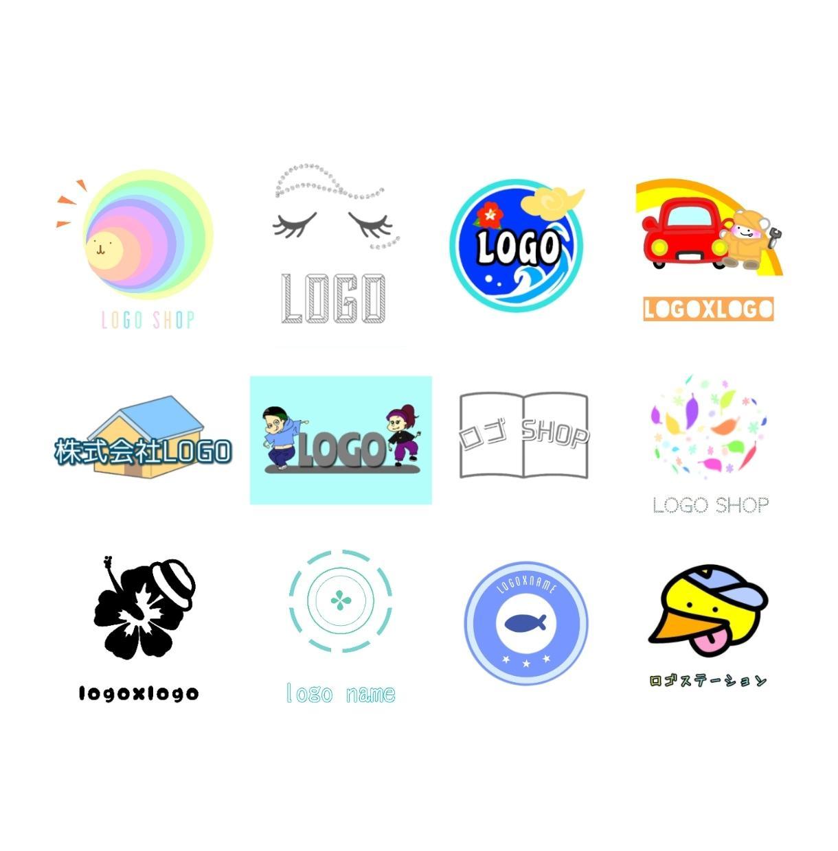 イラスト付き無料★オリジナルのロゴ作成いたします <企業・店舗・ブログ・HP・ヘッダー・バナー・バンドロゴに>