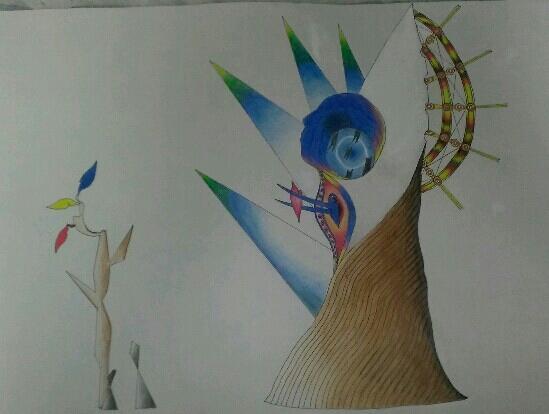 独創的な世界観が好きな方へ、トップ画像のような抽象的な絵を提供します。