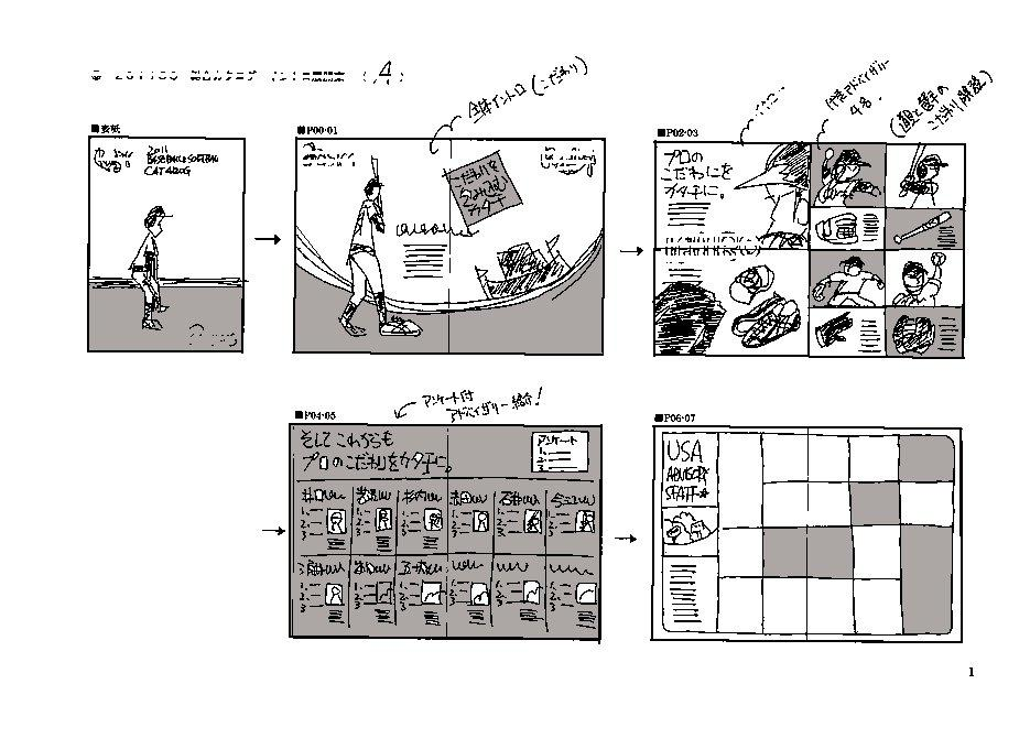 PRツールの企画・構成案、考えます チラシ・パンフの『企画案、構成案』を、もう1案。