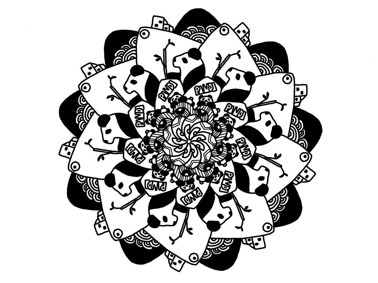 カジュアルな曼荼羅描きます。