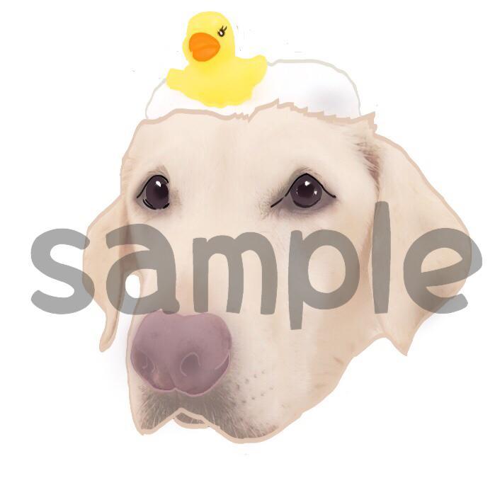 犬好きさん必見!愛犬の似顔絵描きます LINEスタンプにオススメ!愛犬のオリジナルイラスト
