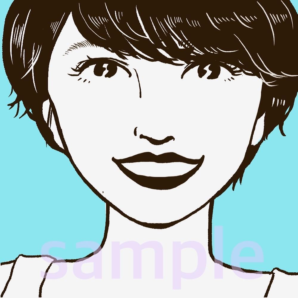 人柄伝わるシンプル&ポップな似顔絵描きます ホクロの位置までそっくり!SNSのアイコンなどにぜひ! イメージ1