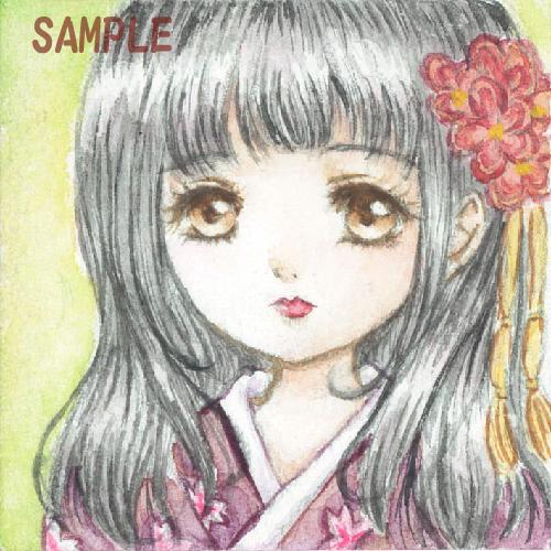 女の子のイラストのSNSアイコンを作成します 【オリジナル】水彩でアイコンを描きます