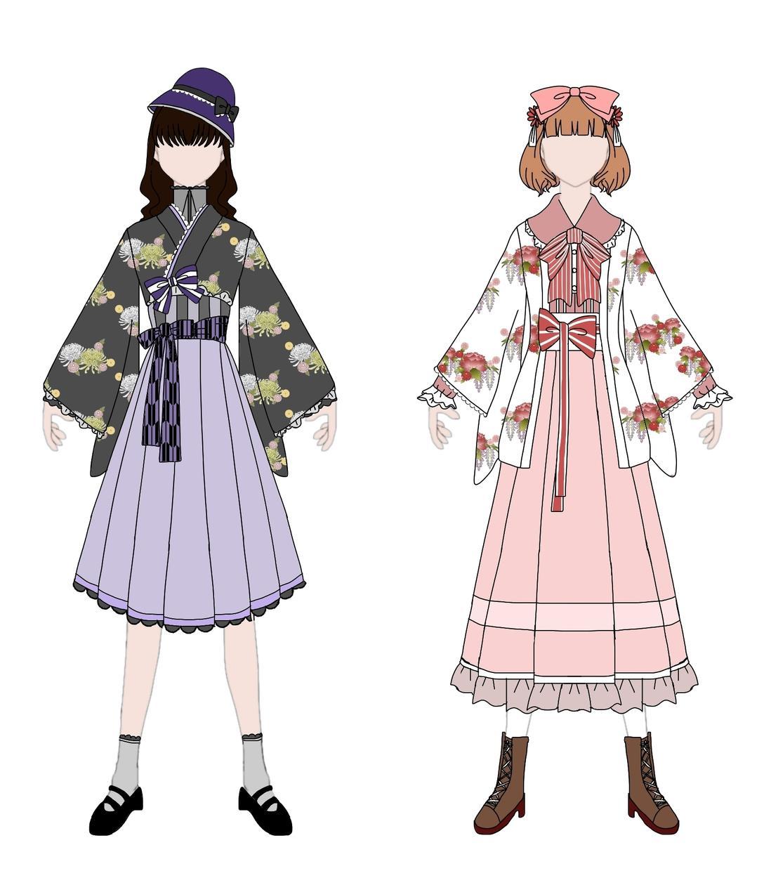 かわいい衣装などのデザイン画描きます かわいい以外にも様々なタイプのデザインOK! イメージ1
