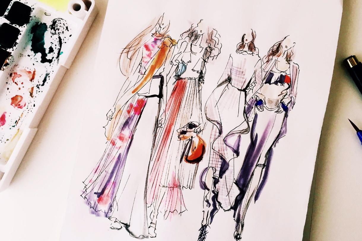おしゃれなイラストをあなたをモデルに描きます プロのファッションデザイナーが描くイラストはSNS映えも◎