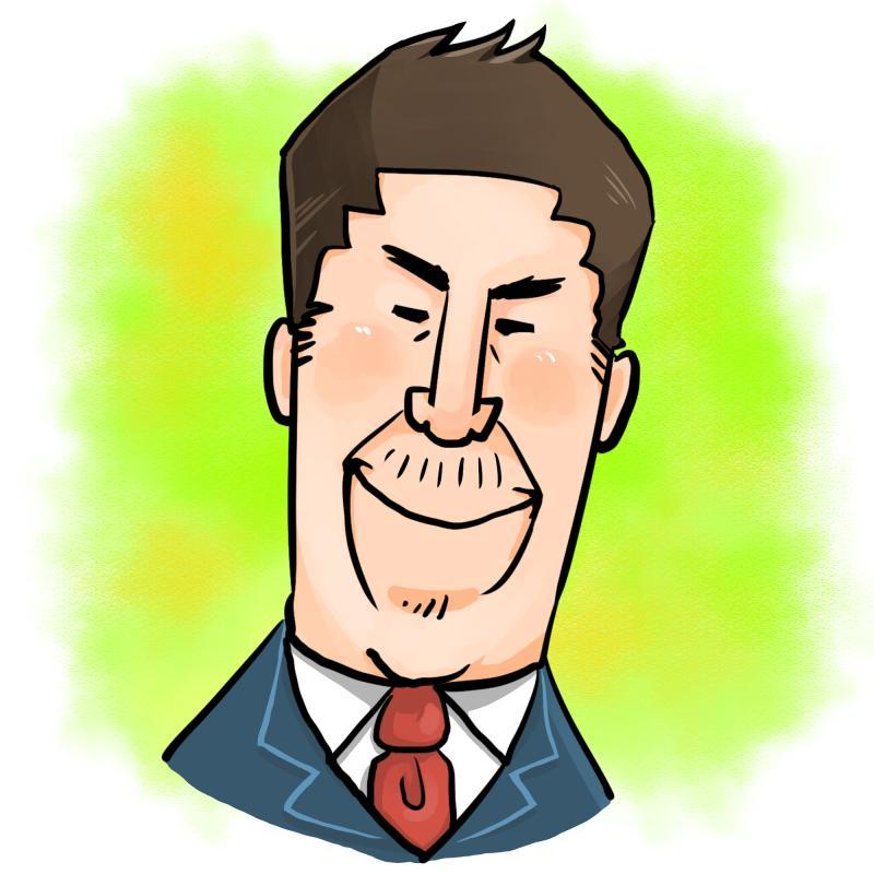 お写真から、デフォルメ似顔絵お描きします 名刺やブログに最適!オーダーメイド似顔絵制作