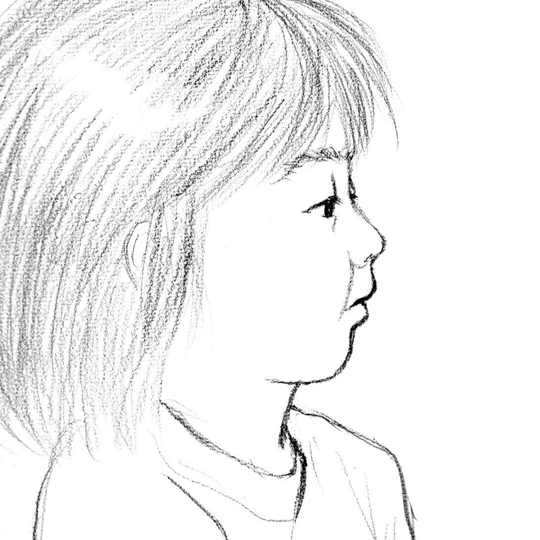 絵画タッチで横顔の似顔絵を描きます ひと味違ったアイコンをお探しの方へ