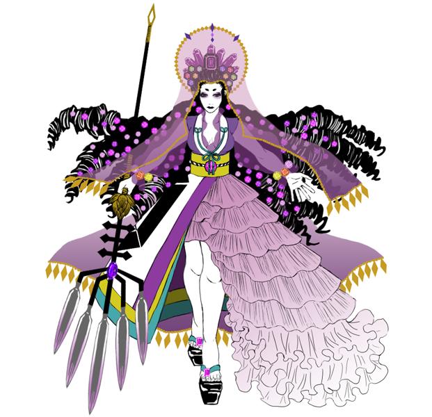 キャラクターデザインします ロック、和風、ゴシック風のキャラクターを探してる方にお勧め