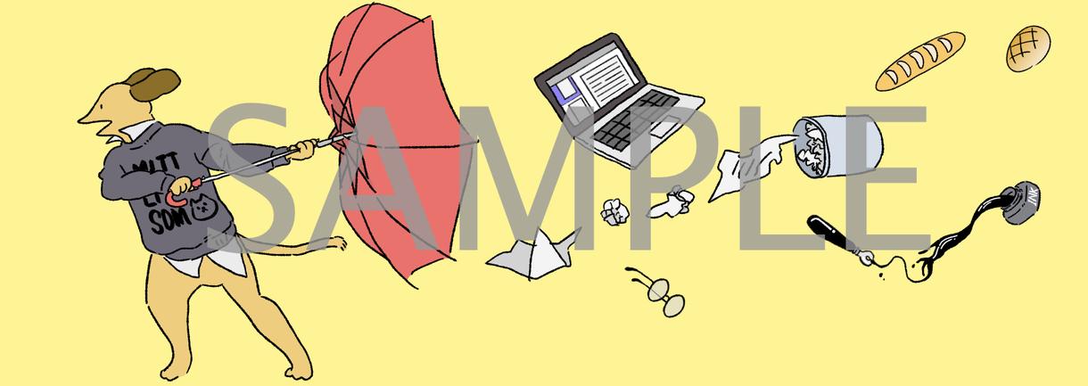 仕事用イラスト▼あなただけのイラスト作成いたします ヘッダー、名刺用イラスト、ブログ用に