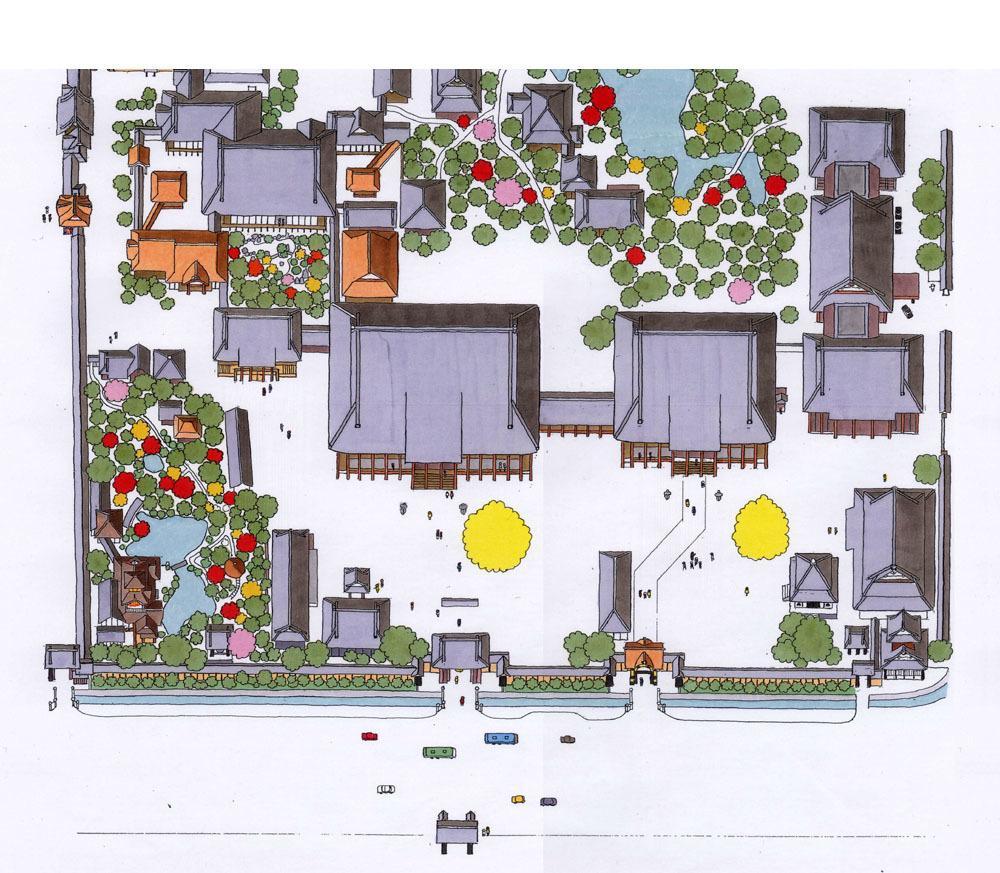 寺や神社の境内図制作します 印刷物やホームページなどに使用するお寺や神社の境内図を制作